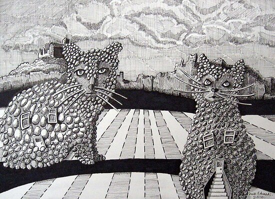 227 - CATTAGES - DAVE EDWARDS - PIGMA MICRON PENS - 2010 by BLYTHART