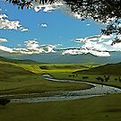 Drakensberg landscape in the late afternoon by mamba