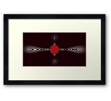 red bubble matrix Framed Print