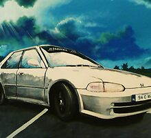 painting of s boy racer friend of mine commision by imajica