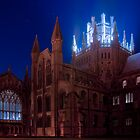 Ely Cathedral by night, Cambridgeshire by sharpeimages