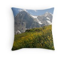 Switzerland - Eiger and Mönch Throw Pillow