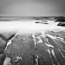 Incoming Wave at Hopeman (mono) by Christopher Thomson