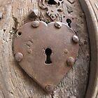 Heart Key Hole France by Leila Cutler