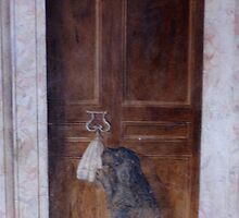 very old painted door, villa d'Este, Tivoli near Rome by BronReid