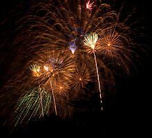 Australian Day Fireworks 3 by Dominic Wilson-Ing