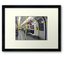 Northern Line Train Emptiness Framed Print