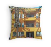 Red Caddy Apartments Throw Pillow