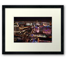 The Strip North - Las Vegas NV Framed Print