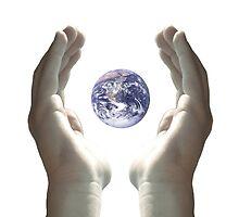 Earth in my hands by BrandonHot