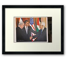 Peace in Middle East. Framed Print