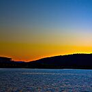 Blue/Orange Sunset-Lake Burley Griffin Canberra by Stephanie Jensen