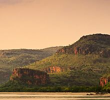 Dusk at Porosus Ck. Kimberley Coast by Tim Wootton
