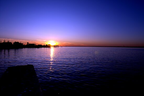 Sunset at Baypoint, New Jersey by Kim McClain Gregal