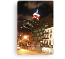 The Empire State in the Red White and Blue (NYC) Canvas Print