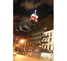 The Empire State in the Red White and Blue (NYC) Photographic Print