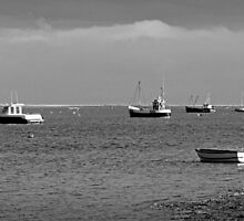 Fishing Boats at Brancaster Straith Norfolk by johnny2sheds