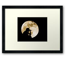 The Moon is full tonight Framed Print