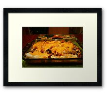 Real Mexican Enchiladas Framed Print