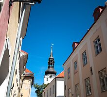 St. Nicholas Church Steeple Tallinn Estonia by robert cabrera