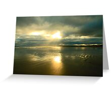 Radiant beach Greeting Card