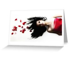 Suspended Romance Greeting Card