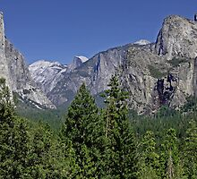 Half Dome Seen Through Yosemite Valley by Buckwhite