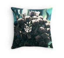 Bluegreen milkweed Throw Pillow