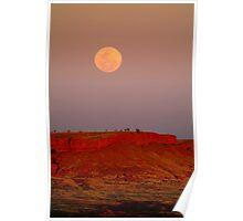 Balgo Hills Moon Rise,WA Poster