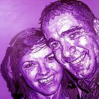 Pop art portrait of Proud father and daughter by Deborah Boyle
