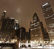 Chicago by night - Wacker drive by Julien Delebecque