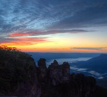 The Sisterhood - Blue Mountains World Heritage Area - The HDR Experience by Philip Johnson