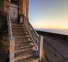 On The Steps Of Cabot Tower by Kevin  Kroeker
