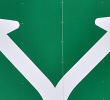 Arrows on a road sign by GiulioSaggin