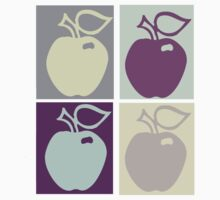 Four Apples T-Shirt by simpsonvisuals