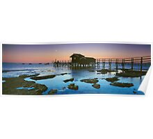 Moonlight at Shelly Beach Boathouse Poster