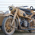 German Bike With Sidecar by Steven Squizzero