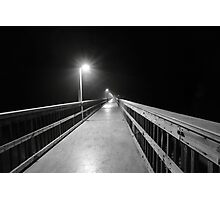 lonely pier walk Photographic Print