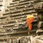 Monk at Angkor Wat by dimpdhab