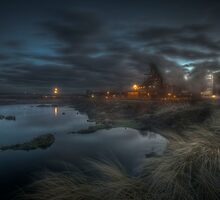 Night time over Corus by WhartonWizard