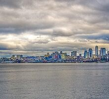 Seattle Washington skyline in HDR by Jeffrey  Sinnock