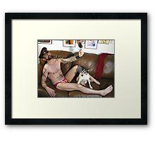 Leather master Framed Print
