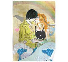 Textbook Love [peach & shadow] Poster