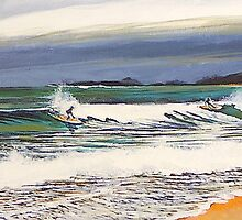 Surf before the Storm by Elizabeth Moore Golding