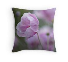 Japanese anemone Throw Pillow