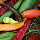 Peppers by Yvonne Falk Ponsford