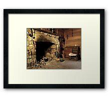 the hearth Framed Print