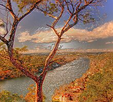 Mount Bonnell HDR in Plastic Wrap by ijam357