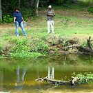 Fishing at Randol Mill Park by Susan Russell