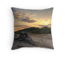 Mud Volcanoes Buzau  Throw Pillow